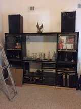 Black Lacqur Wall Unit in Columbus, Georgia