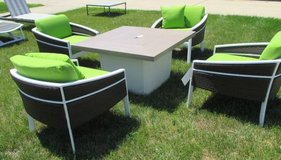 Set of 4 Wicker-look Outdoor Chairs - Floor Samples in St. Charles, Illinois