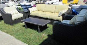 Yellow Outdoor 6 Piece Living Room Set - Merchandise Mart Sample in St. Charles, Illinois