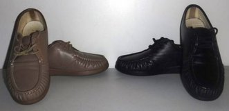 2 pr Sz 10W SAS Leather Comfort Tripad Lace up Walking Shoes in Orland Park, Illinois