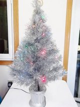 Silver (Aluminum) Christmas Tree - Christmas In July Sale - L@@K! in Brookfield, Wisconsin