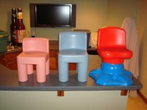 "Little Tikes Toddler Child Chunky Chairs ""2"" & Swivel Chair L@@K!! in Brookfield, Wisconsin"