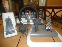 official microsoft xbox 360 wireless racing wheel and pedals w/ force feedback in Yucca Valley, California
