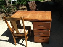 ALL WOOD DESK AND CHAIR in Glendale Heights, Illinois