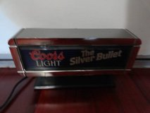 VINTAGE 1988 COORS LIGHT BEER CASH REGISTER BAR MAN CAVE SIGN in Fairfield, California