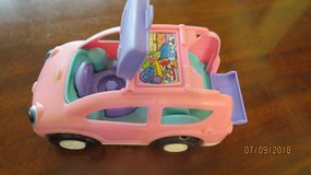 1990 Fisher Price Car Van for CHUNKY STYLE Little People Pink & Purple Musical Sounds in Byron, Georgia