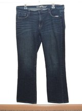 Old Navy SWEET HEART Boot Cut Denim Jeans Womens 14 Stretch in Morris, Illinois