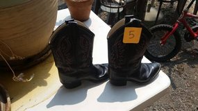 Kid's Size 5 Cowboy Boots, Size 2 Tennis Shoes in Vacaville, California