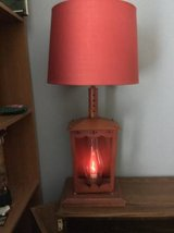 Red Lantern  Table Lamp with flickering candle like light in Schaumburg, Illinois