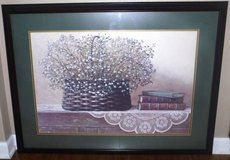 Large Framed / Matted Art - Flower Basket w/ Books in Naperville, Illinois