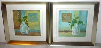 Set of 2 Matted / Framed Art - Plants in Jars in Westmont, Illinois