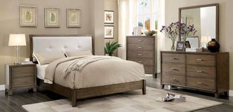 New California King Padded Leatherette Platform Bed  FREE DELIVERY in Oceanside, California