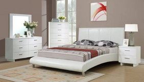 New QUEEN Size White Arched Bed Frame FREE DELIVERY in Oceanside, California