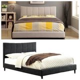 New! Ennis QUEEN in Beige or Gray Bed Frame FREE DELIVERY in Oceanside, California