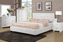 New! FULL Size White Tufted Bed Frame FREE DELIVERY in Oceanside, California