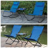 New! Pair of Foldable or Rocking Outdoor Patio Chairs starting... in Oceanside, California