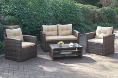 New! Outdoor Patio Loveseat + 2 Chairs + Table Set FREE DELIVERY in Oceanside, California