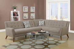 New Sand Velveteen Fabric Sectional Sofa  FREE DELIVERY in Miramar, California