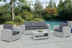 New Gray Sofa + 2 Chairs + Table Patio Outdoor Set FREE DELIVERY in Oceanside, California