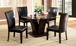 New! 54 Inch Round Dining Glass Table +4 Chairs DELIVERY AVAILABLE in Miramar, California