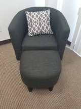New! Gray Linen Accent Chair and Ottoman DELIVERY AVAILABLE in Miramar, California