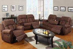 New Microfiber Sofa Recliner with Console FREE DELIVERY starting in Miramar, California