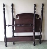 2 Sets Antique Sligh Furniture Twin Four Poster Wood Bed Frames in St. Charles, Illinois