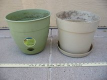 two large 12 in (one self-water) flower pots Planters in Colorado Springs, Colorado
