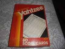 YAHTZEE  Unused Score Cards!  Box of 80 Score Cards. in Spring, Texas