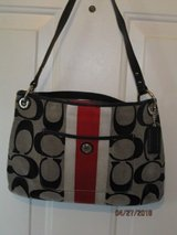 coach red/black/white satchel purse handbag authentic in Yorkville, Illinois
