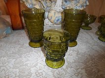 "3 pc Vintage Olive Green Indiana Glasses ( 2 Large + 1 Small)! Whitehall ""Colony"" in Kingwood, Texas"