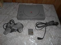 Sony PlayStation PS1 Console, 1 Controller, 1 Memory Card, + Power Cord. in Kingwood, Texas