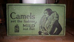 Index Card Sized Vintage Ad for Camel in Vacaville, California