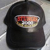 STURGIS Black Leather Hat Black Hills Rally 60th Bike Rally 2000 Biker in Morris, Illinois