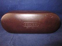 COACH LEATHER Eye Glass Case Hard Dark Brown in Glendale Heights, Illinois