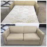 Beige Upholstered Two Seater Sofa bed in New Lenox, Illinois