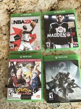 4 XBox One Video Games-NFL 18, NBA 2K 18, Naruto -Storm, Destiny-2 in New Lenox, Illinois
