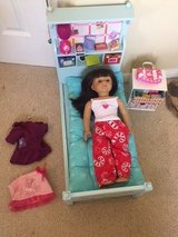 Authentic American Girl Look like you doll 2015 18 INCH, bed, chest & accessories in Kingwood, Texas