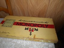 Vintage  MONOPOLY Board Game with game pieces, cards, hotels, money, gameboard, and original box! in Bellaire, Texas