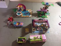 lego friends pet groomer, tree house, rv, pool & accessories LEGOS in Kingwood, Texas