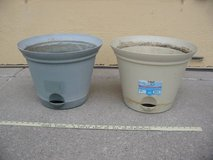 Two Misco Plant Spa Self-Watering Flare Planters flower pots in Fort Carson, Colorado