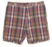 Club Room Plaid Shorts Tag 36 Measures 37 Blue Green Pink Salmon White in Shorewood, Illinois