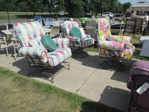 Choice of Colorful Outdoor Comfy Chairs - Merchandise Mart Floor Samples in Naperville, Illinois