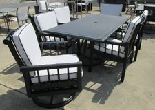 Black and White Outdoor Dining Set - Merchandise Mart Sample in Schaumburg, Illinois
