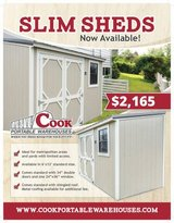 6x12 Slim Shed in Conroe, Texas
