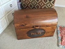 Handmade Wooden Hope chest - barrel shape dark Pine Storage chest in Glendale Heights, Illinois