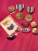 assortment of military awards and pins in Alamogordo, New Mexico