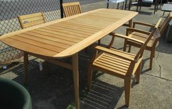 Outdoor Teak 9 Foot Dining Table - Merchandise Mart Sample in Schaumburg, Illinois