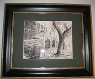Pineapple Gates a Framed Print From a Pencil Drawing by Steve Jacobs 8 / 100 in Joliet, Illinois