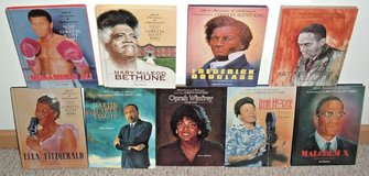 Vintage 90s 9 Black Americans of Achievement Books Lot Luther Malcolm Oprah Ali in Yorkville, Illinois